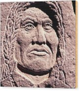 Chief-gall Wood Print