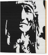 Chief Half In Darkness Wood Print by HJHunt