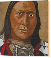 Chief Hollow Horn Bear Wood Print
