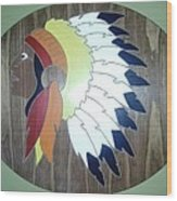 Chief In Cherry Wood Print