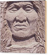 Chief-kicking-bird Wood Print