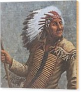 Chief Knife Wood Print