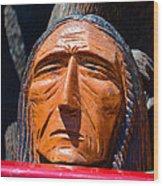 Chief Looking Wood Print
