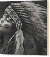 Chief Of Her Dreams Wood Print