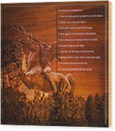 Chief Shabbona And The Ten Indian Commandments Wood Print