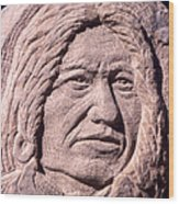 Chief-spotted-tail Wood Print