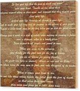 Chief Tecumseh Poem Wood Print