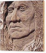 Chief-washakie Wood Print by Gordon Punt