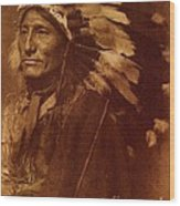 Chief Whirling Horse Wood Print