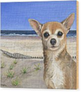 Chihuahua At Sea Isle City New Jersey Wood Print