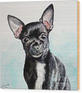 Chihuahua Black Wood Print