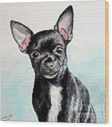 Chihuahua Black Wood Print
