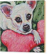 Chihuahua Who Came To Visit Wood Print