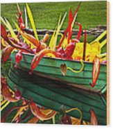 Chihuly Boat Wood Print by Diana Powell