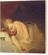 Child Asleep Wood Print