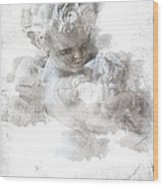 Child Cherub Wood Print