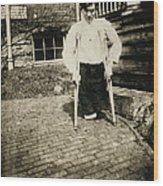 Child Labor, Frank, Whose Legs Were Cut Wood Print
