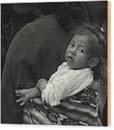 Child Of Chichicastenango Wood Print