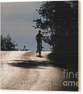 Child On Bicycle, Italy Wood Print