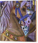 Childhood Carrousel Ride Wood Print