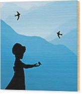 Childhood Dreams 5 Feeding Time Wood Print