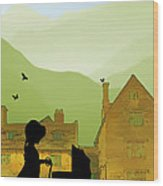 Childhood Dreams The Pram Wood Print by John Edwards