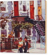 Childhood Montreal Memories Balconies And Bikes The Boys Of Summer Our Streets Tell Our Story Wood Print