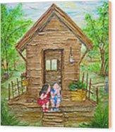 Childhood Retreat Wood Print