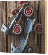 Childhood Skates Wood Print