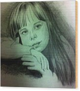 Childhood Wood Print by Soumya Bouchachi