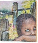 Childhood Triptic Wood Print