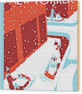 Snowplows Wood Print
