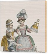 Children At Play, Engraved By Patas Wood Print
