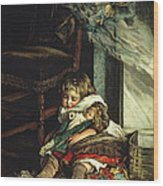 Children Dreaming Of Toys Wood Print