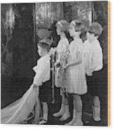 Children In A Wedding Procession Wood Print