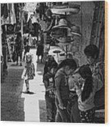 Children In The Rosarito Art Shops Wood Print