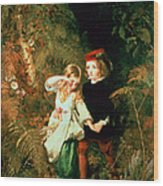 Children In The Wood Wood Print