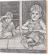 Children Of The Appalachians Wood Print