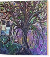 Children Under The Fantasy Tree With Jackie Joyner-kersee Wood Print
