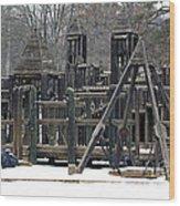 Children Will Play Wood Print