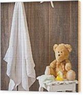 Childrens Bathroom Wood Print