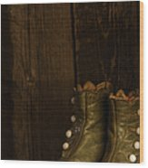 Children's Boots Wood Print
