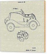 Child's Car  Wood Print