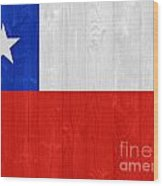 Chile Flag Wood Print