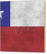 Chile Flag Wood Print