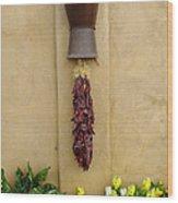 Chili Wall Wood Print