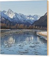 Chilkat River Freeze Up Wood Print