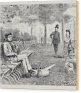 Chill October Rotten Row 1871 Wood Print