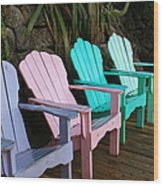 Chill Out Wood Print