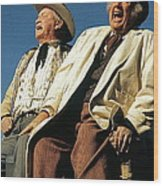 Chill Wills And Andy Devine Singing Atop A Stagecoach Old Tucson Arizona 1971 Wood Print